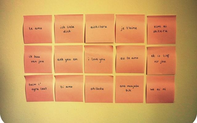Dire ti amo con le lingue