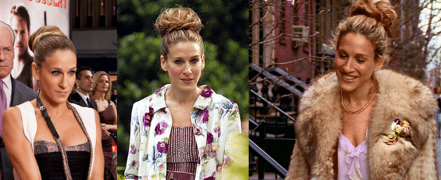 Chignon con calzino alla Carrie Bradshaw in Sex and the City
