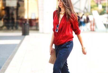 Colori moda autunno 2012, blu rosso