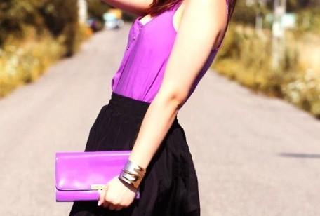 Colori moda autunno 2012, viola e nero