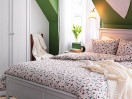 camera-da-letto-verde-bianca