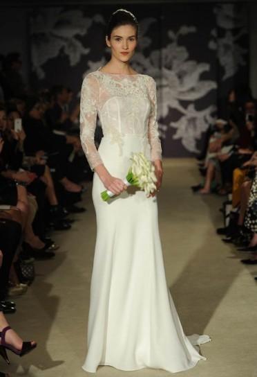 3dd50752cc1a Collezione 2015 abiti da sposa Carolina Herrera  FOTO  - NanoPress Donna