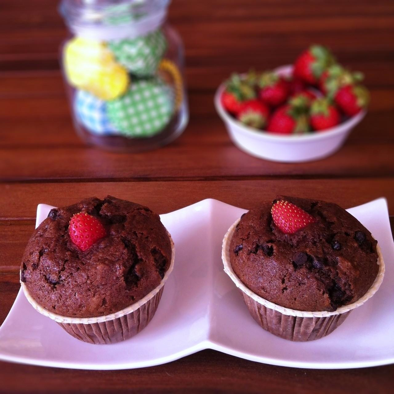 muffin-cioccolato-e-fragole